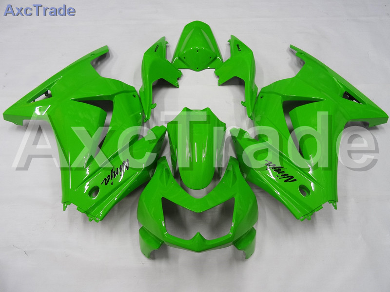 Motorcycle Fairings For Kawasaki Ninja 250 ZX250 EX250 2008-2012 08 - 12 ABS Plastic Injection Fairing Bodywork Kit Green A650 moto motorcycle fairing kit for kawasaki ninja zx10r zx 10r 2008 2009 2010 08 09 10 abs plastic fairings fairing kit white black