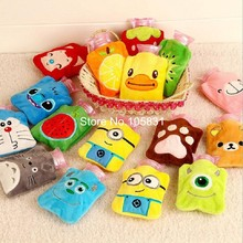Cute cartoon plush water filling hot water bottle with cover explosion-proof hand warmer warming bag christmas gifts