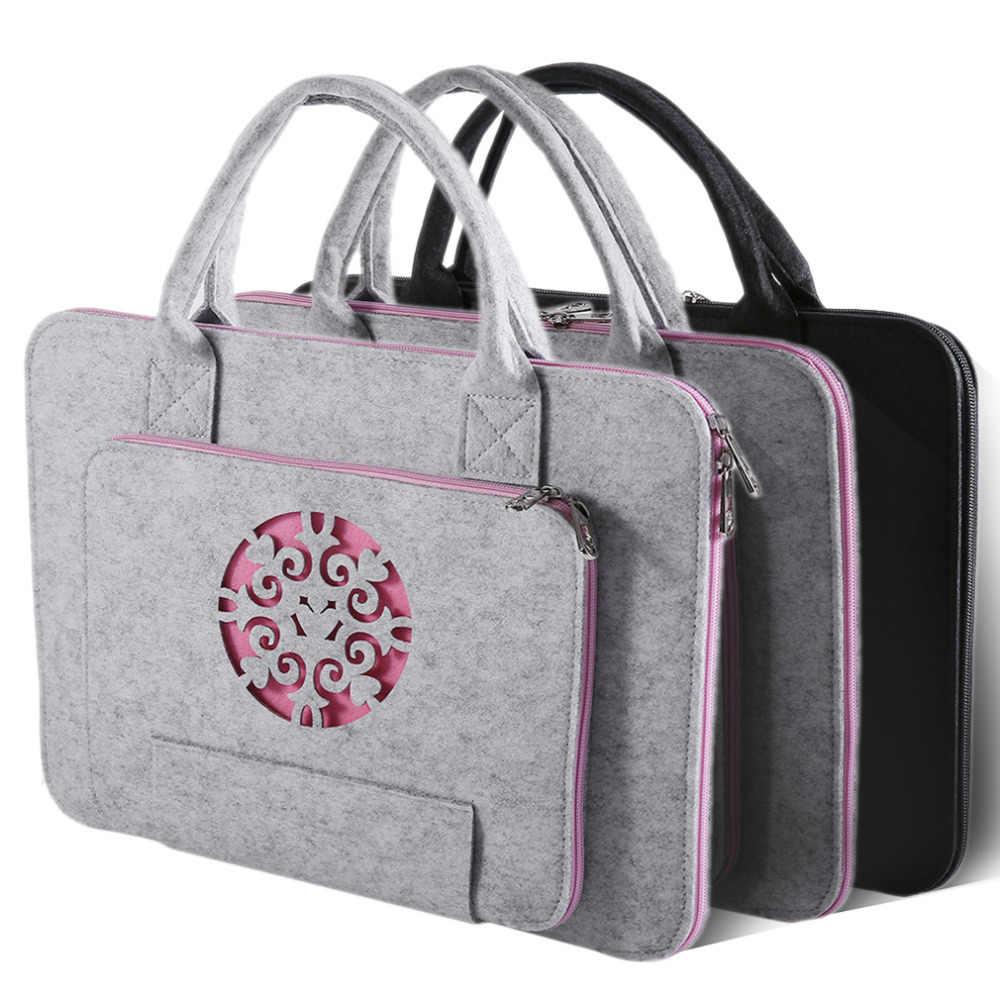 4bab308d3779 Новинка 2017 года фетровая сумка для ноутбука, универсальная сумка Тетрадь  случае Портфели Handlebag чехол для