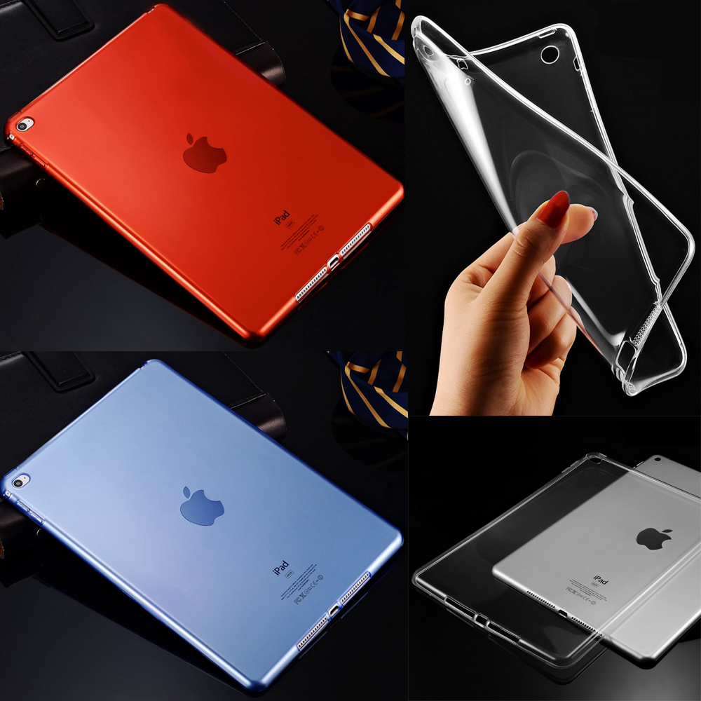 For Apple 2017 New iPad Pro 12.9 Transparent Soft Clear Slim TPU Skin Back Cover Case for iPad Pro 12.9 2nd Generation for ipad mini4 cover high quality soft tpu rubber back case for ipad mini 4 silicone back cover semi transparent case shell skin