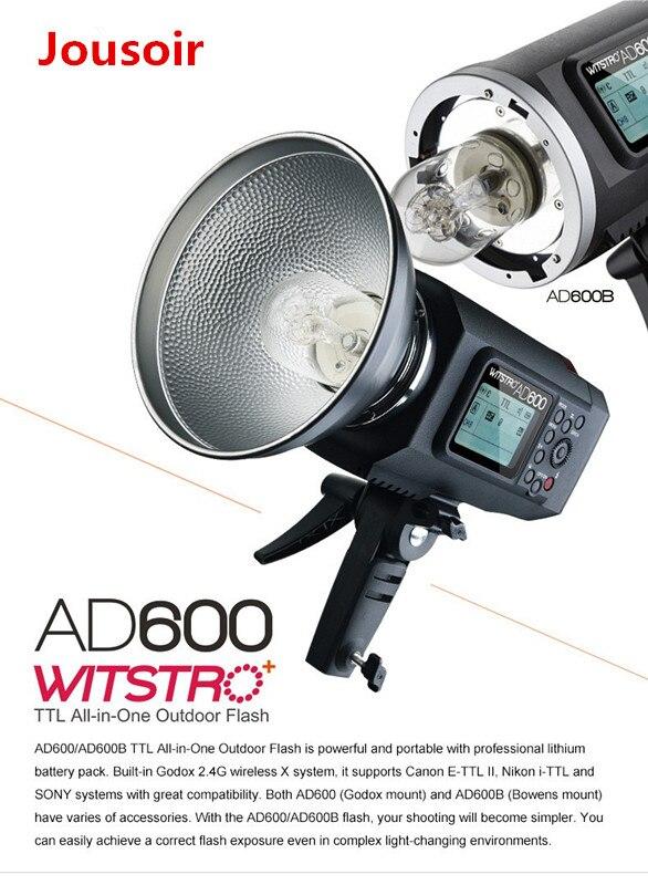 Godox AD600 600 W TTL HSS 1/8000 s Flash extérieur Portable avec déclencheur de X1T-C ffor C EOS 1DX 5 DMark III (monture Godox) CD15