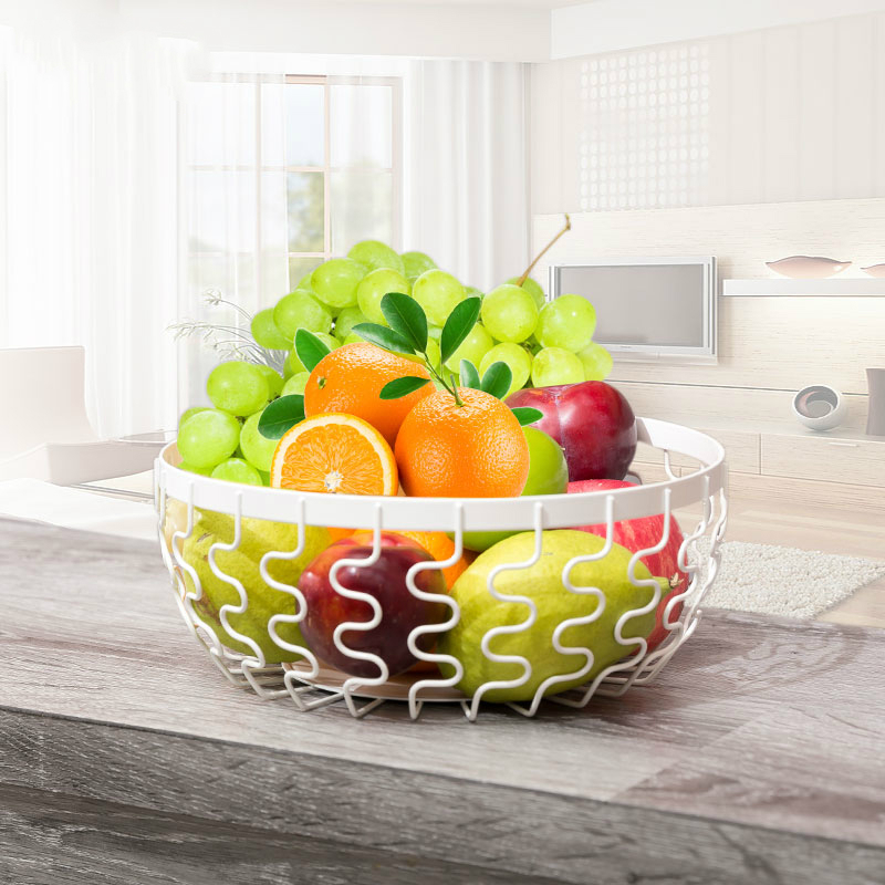 Unique Metal Iron Fruit Basket Rack Kitchen Shelf Kitchen Iron Storage Holder Shelf for Sale