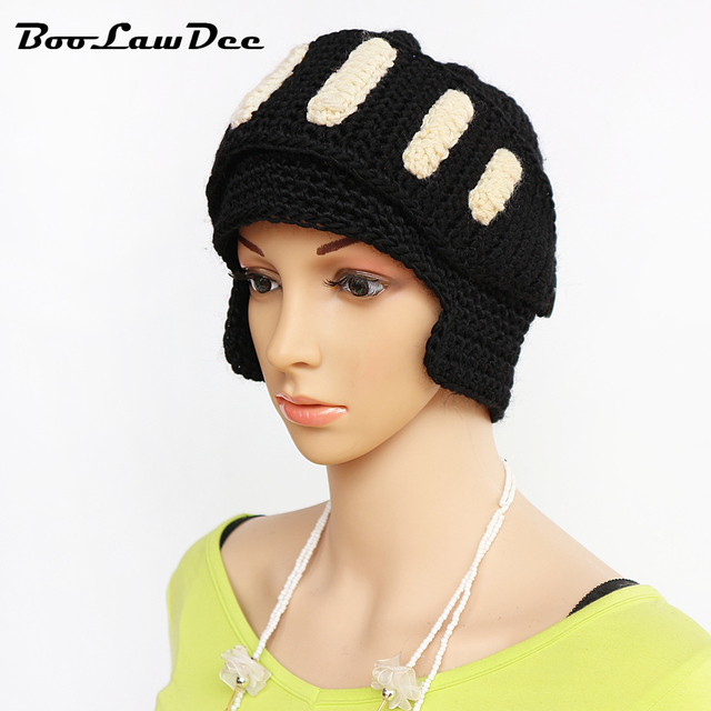 Boolawdee Winter Handwork Crochet Beanie Roman Style Soft Helmet Men