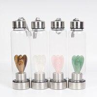 Новый продукт все виды натурального кварца драгоценный камень кристалл стекло эликсир бутылка для воды точка с кристаллические палочки ис...