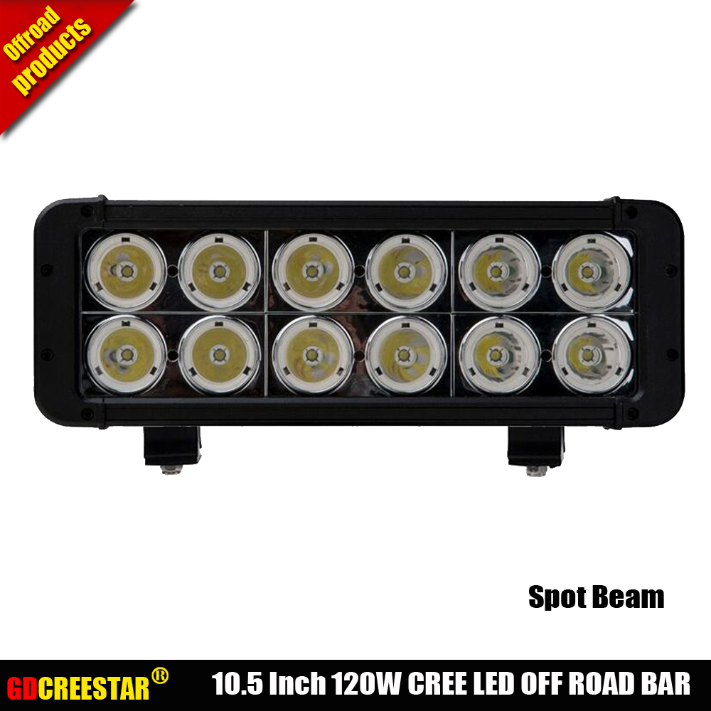 10.5inch Dual Row 120W LED Off road Light Bar for Tractor Boat 4WD 4x4 Truck SUV ATV 12V 24V Narrow beam Led Driving lights x1pc