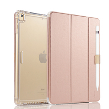Case For iPad Pro 9.7 / Air / Air 2 / New iPad 2017, Protective Impact Heavy duty Smart Leather Cover with Apple Pencial Holder