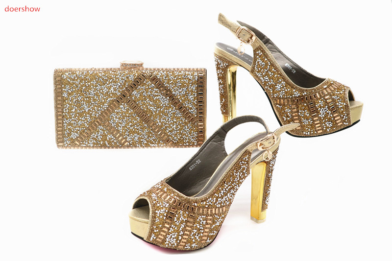 doershow Italian Shoes And Bag Sets High Quality Matching Bag And Shoes For Evening Party Lady Shoes And Bag with stones  TN1-10 italian visual phrase book
