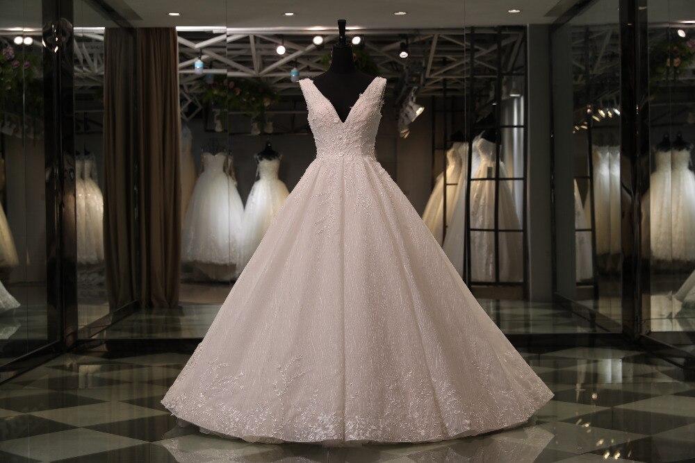 Favordear 2018 New High End Expensive Top Quality Wedding Dress Nestido De Noiva Beading Back Zipper Back Wedding Dresses