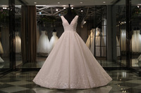 Favordear 2018 New High End Expensive Top Quality Wedding Dress Nestido De Noiva Beading Back Zipper Back Wedding Dresses