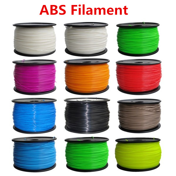 Reprap 3d printer ABS material filament ABS 1.75mm 1kg plastic Rubber Consumables Material