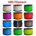 Reprap 3d printer material ABS filament ABS 1.75mm 1 kg de plástico de Borracha de Materiais Consumíveis