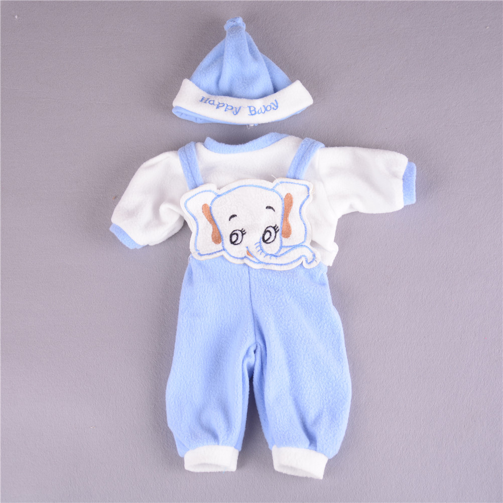3Pcs/set Doll Clothes Hat Suit For 50cm Reborn Baby Doll Doll Accessories Best Gifts Wholesale 4 Colors