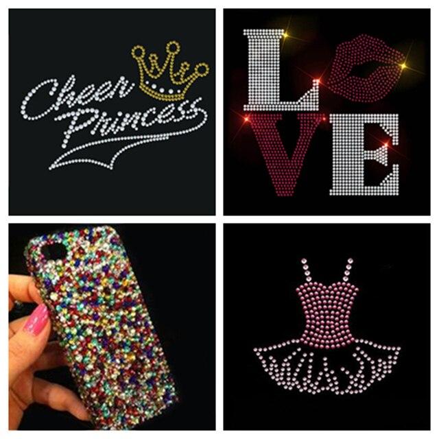 3mm 2000pcs Bag Colorized Crystal Flatback Rhinestones Glitter Gems  Creative 3D Nail Art Shoes Bag Cellphone Car DIY Decoration 8493908da501