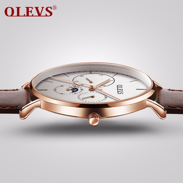 OLEVS heren horloges top brand luxe waterdichte klok lederen staal milanese horloge band quartz horloge mannen relogio montre homme NIEUWE