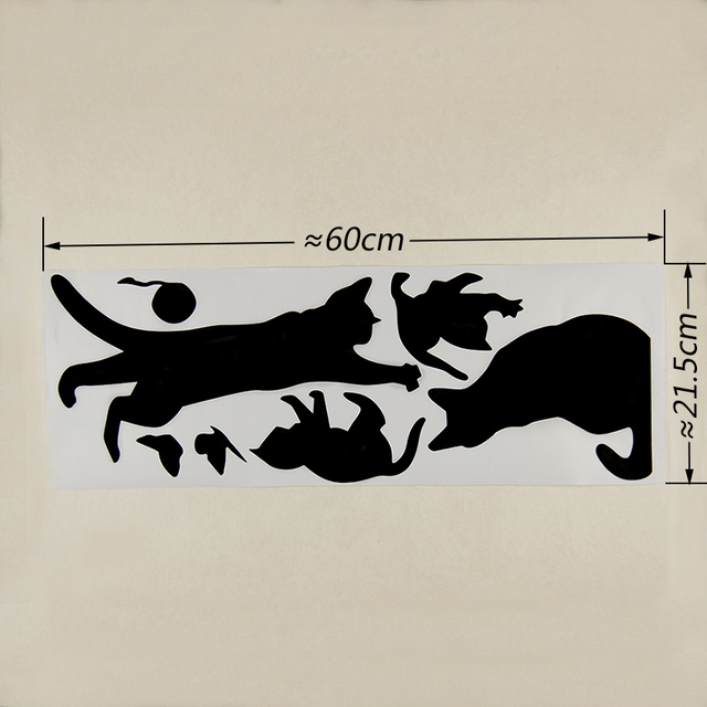 Cat Wall Stickers For Bedroom Kitchen Living Room Walls