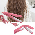 Mini Portable Electric Tourmaline Ceramic Corrugated Plate Iron Curling Hair Curler Rollers Iron Curls Volume Styling Tools