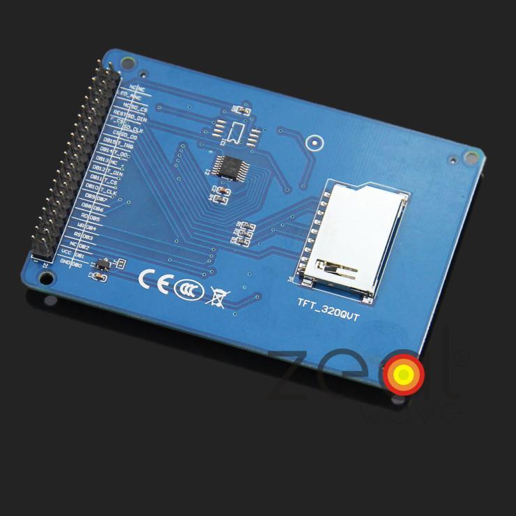 3.2 Pouces 240x320 16BIT TFT Écran LCD Avec Écran Tactile Panneau PCB Conseil Pilote IC SSD1289 SD carte Pour Arduino