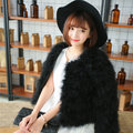 Ostrich hair fur coat female 2015 new autumn and winter long sleeve short han edition