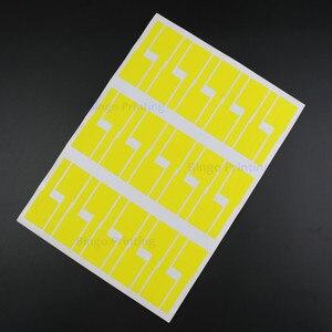 Image 5 - Kabel sieciowy etykiety naklejki 84x26mm 900 sztuk 30 arkuszy A4 P kształt 6 kolorów puste wodoodporna olejoodporne Tearproof