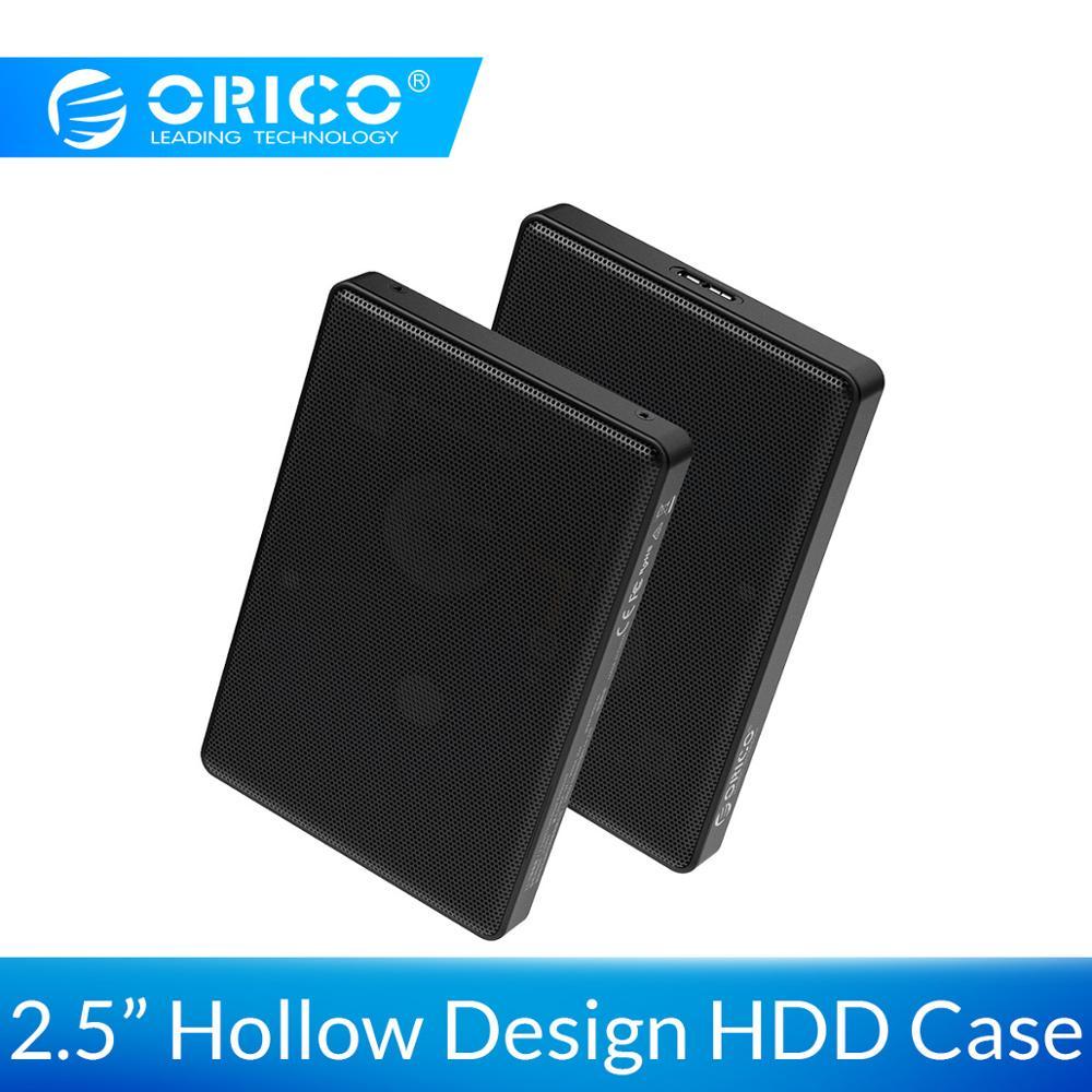 Orico 2.5 Polegada sata para usb 3.1 3.0 tipo c hdd ssd caso 2 4 tb caixa de disco rígido externo hdd gabinete para samsung seagate ssd