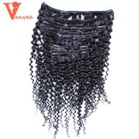 Mongolian Kinky Curly Clip Ins Hair Kinky Curly Virgin Hair Weave Bundles Clip In Human Hair