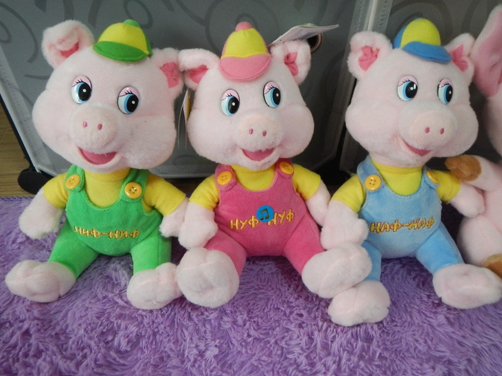 Russian language singing song plush pig soft doll ...