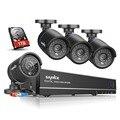 Sannce 8ch 720 p nvr cctv segurança dvr 1080 p hdmi output Sistema de câmera 4 PCS IR 1280TVL 720 P kit de Vigilância de Vídeo Ao Ar Livre 1 TB