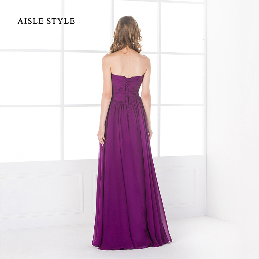 2017 Best Grape Purple Bridesmaid Dresses Popular Sweetheart ...