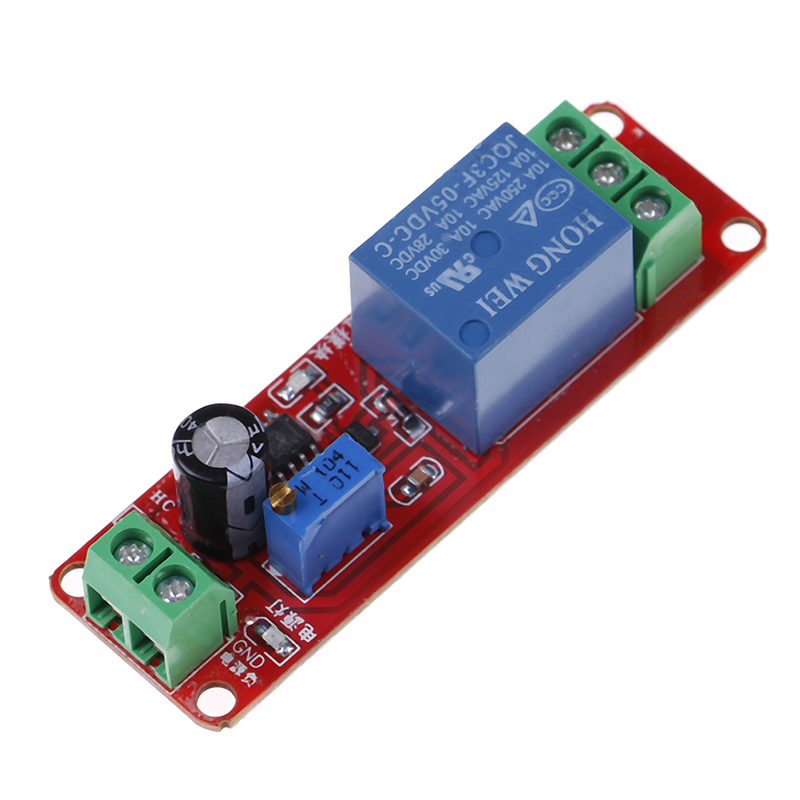 NE555 Timer Switch Adjustable Module Time Delay Relay Module DC 12V Delay Relay Shield 0~10S AC 0~250V / max. 10A