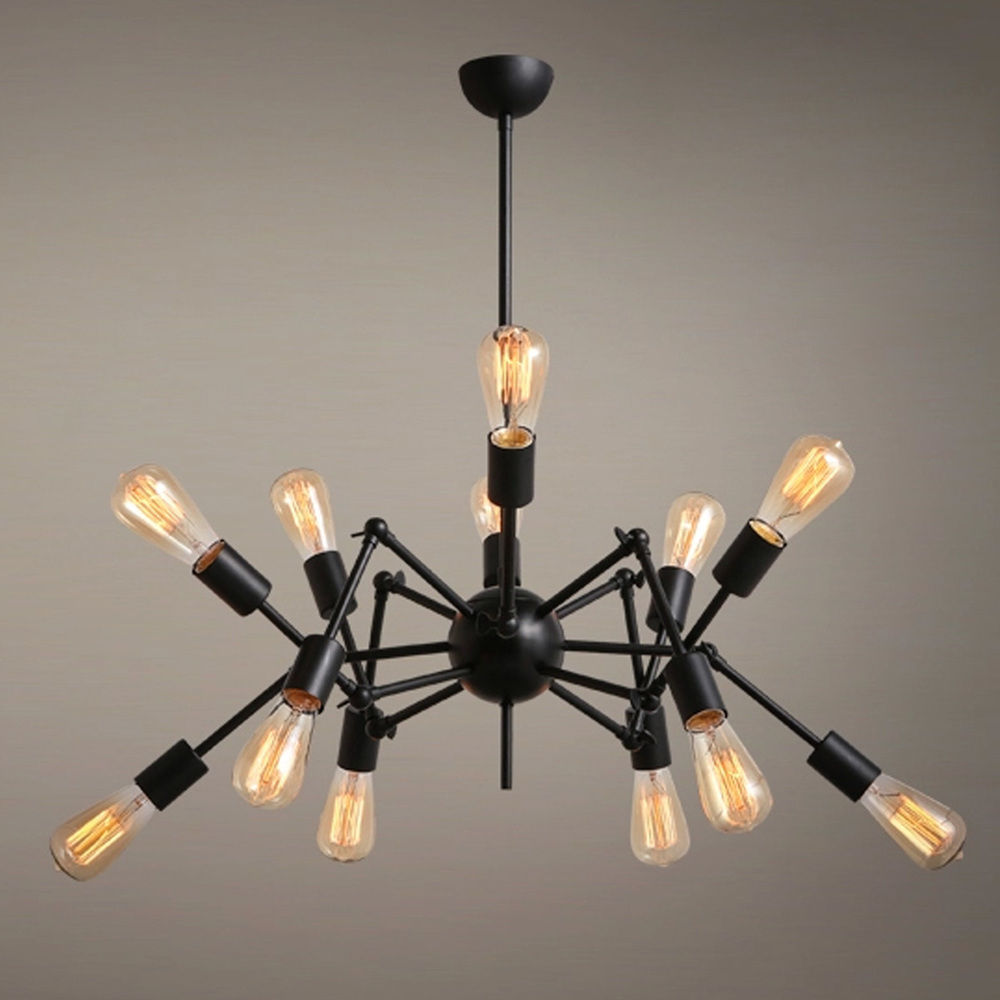 Fashion Vintage Loft Pendant Lamp Hanging Light spider chandelier Ceiling AC110V/220V E27 nordic vintage chandelier lamp pendant lamps e27 e26 edison creative loft art decorative chandelier light chandeliers ceiling
