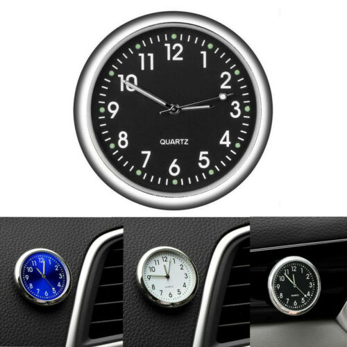 Mini Luminous Quartz Analog Watch Stick-On Clock For Car