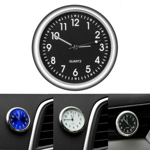 Mini Luminous Quartz Analog Watch Stick-On Clock For Car