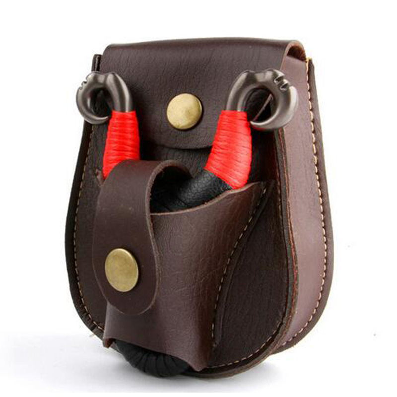 Outdoor Slingshot Pouch Pocket Catapult Waist Bag Hunting Slingshot Case Pouch Holster 2 in 1 PVC Durable Ammo Bag