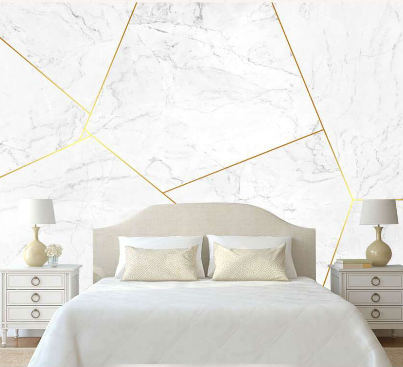 8D Papel Mural Gold Line Texture Geometry Marble 3d Stone Wallpaper Mural 3D Wall paper Photo Murals for Bedroom Sofa Background shinehome black white cartoon car frames photo wallpaper 3d for kids room roll livingroom background murals rolls wall paper