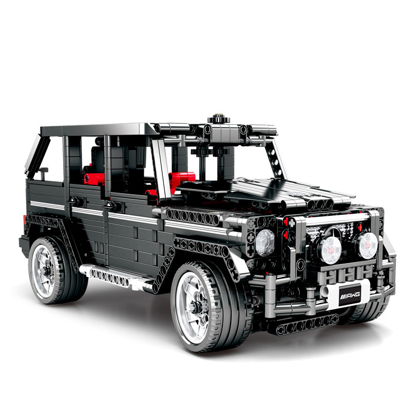 1343pcs Children s building blocks toy Compatible city technic Mercedes Benz Big G Car model Bricks