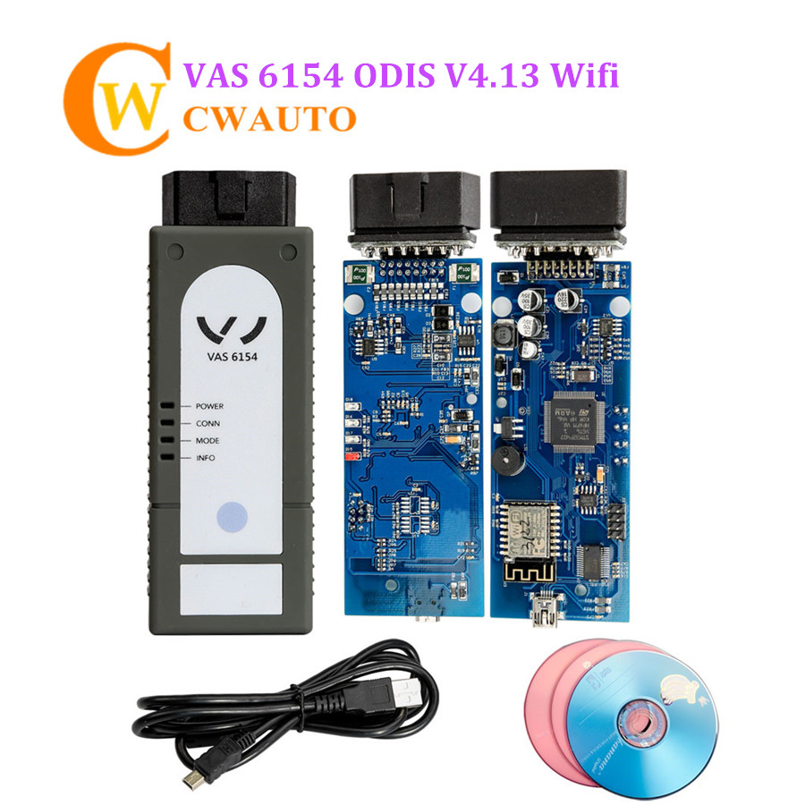 VAS 6154 ODIS V4.23 Wifi Version Multi languages VAS6154 VAG Diagnostic Tool high quality vas5054a with oki full chip car diagnostic tool support uds protocol vas 5054a odis v4 13 bluetooth for audi for vw