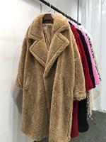 2018 Fashion Winter Long Warm Solid Casual Women Coats Wool Fur Jackets Female Real Fur Coat RFJ0031
