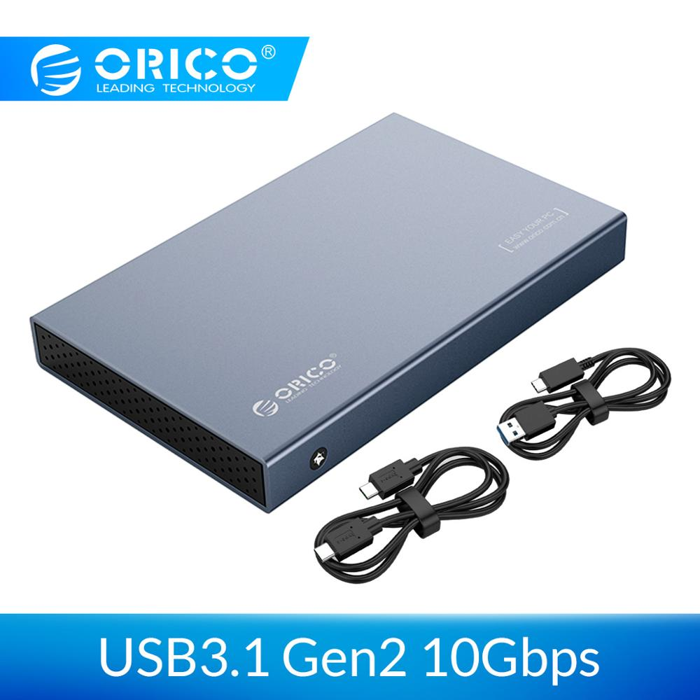 ORICO 2.5'' SATA To USB 3.1 Type C Gen 2 External Hard Drive Enclosure Aluminum 4TB Hard Disk Drive Box For Samsung Seagate SSD
