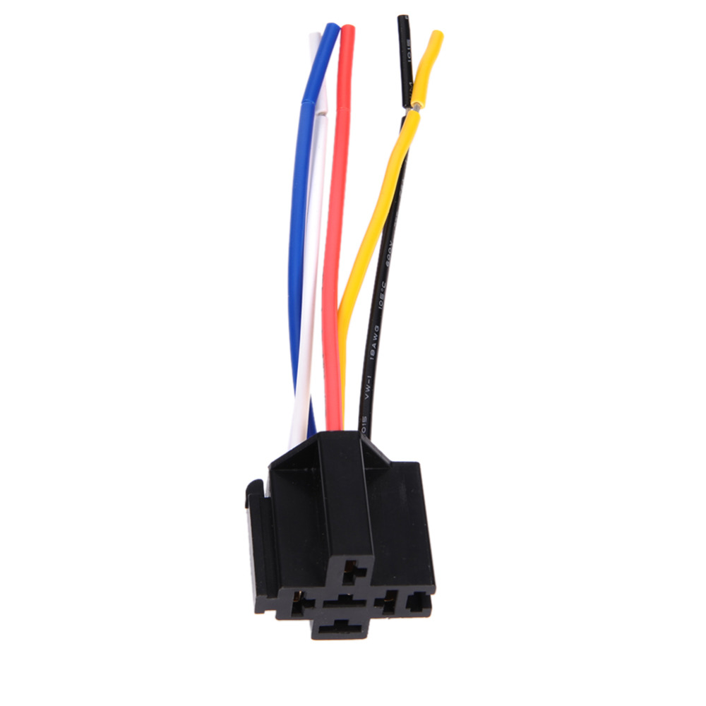 12v 40a Pre Wired 5 Pin Relay Mounting Base Socket Holder Road The Connector Nacelle Insurance Car In Switches Relays From Automobiles Motorcycles On