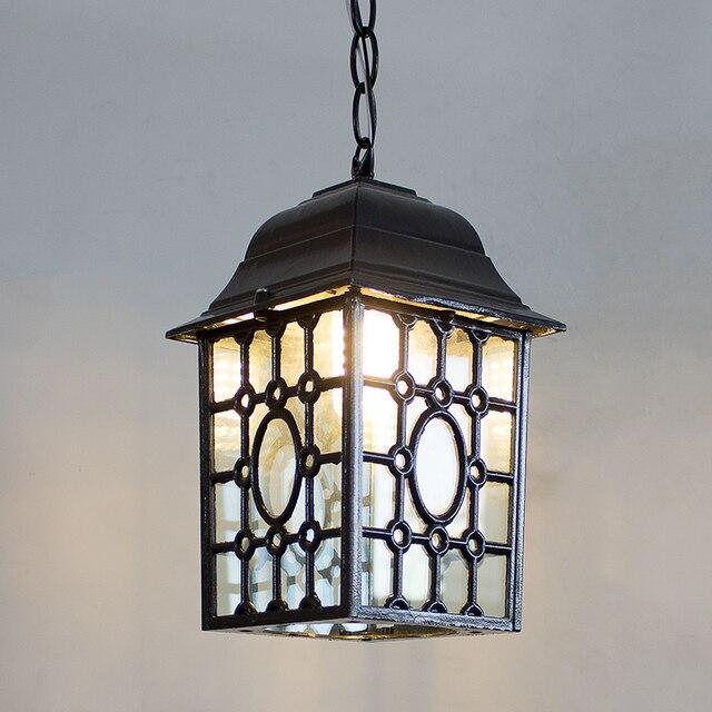 Outdoor Light Iron Waterproof Pendant Lights Creative Living Room
