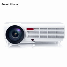 New Full HD LED 3D Home Cinema Projector With LED Lamp 5500Lumen Native 1280*800 Resolution digital lcd proyecotor