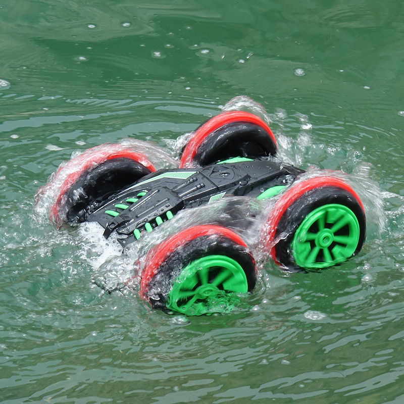 1:18 RC Stunt Car 360 Rotate Remote Control Car Driving On Water And Land Amphibious Electric Toys Children