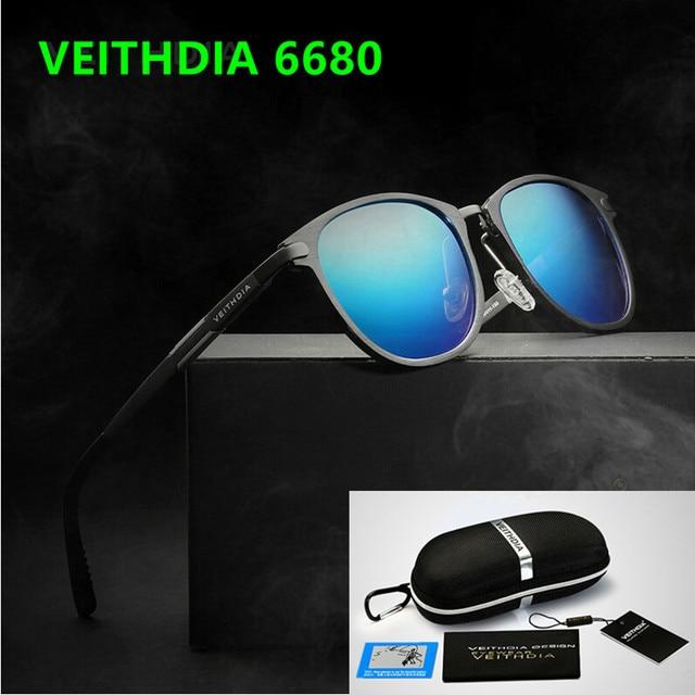ee74a7892c VEITHDIA Unisex Retro Aluminum Magnesium Sunglasses Polarized Lens Vintage  Eyewear Accessories Sun Glasses Oculos de sol 6680