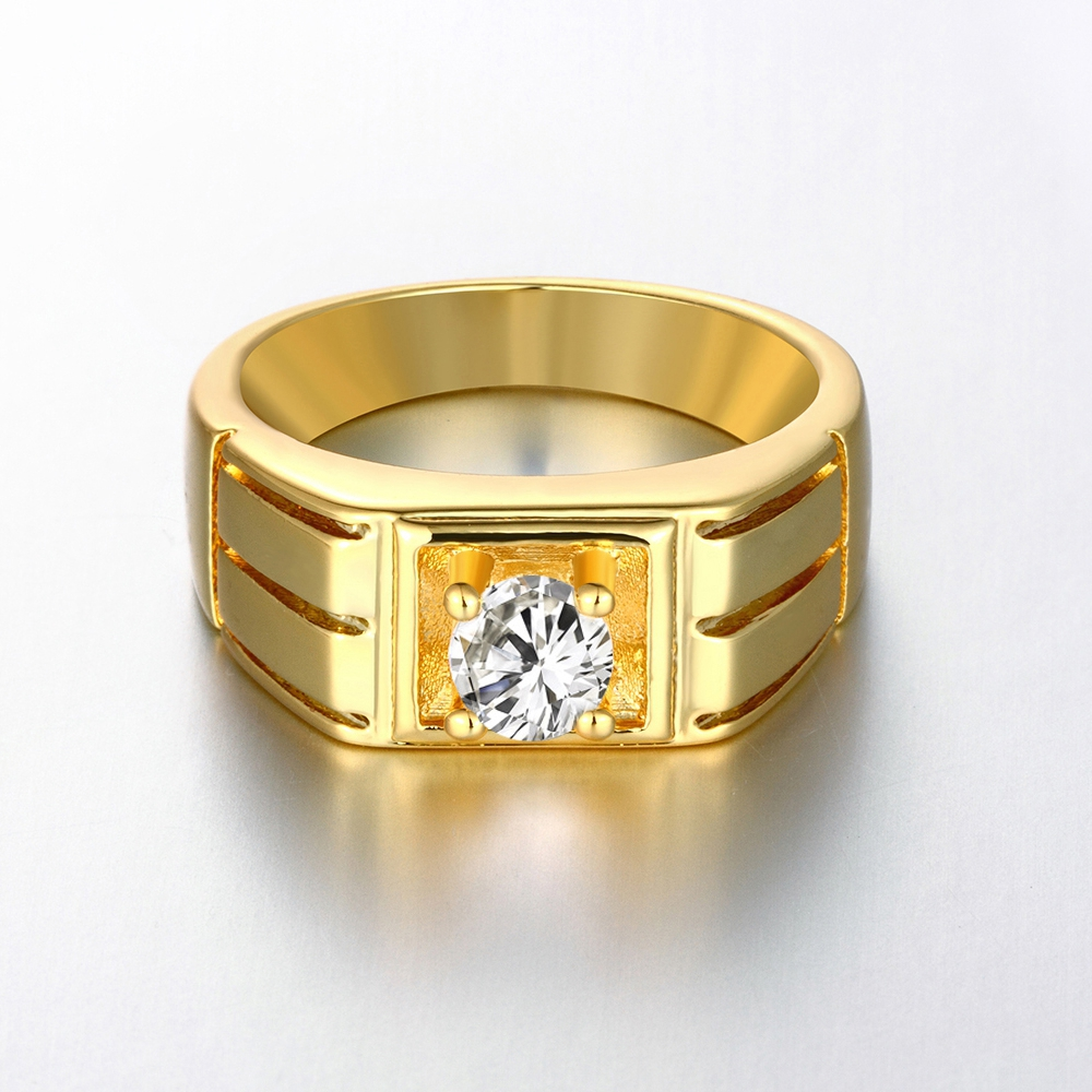 3 Color Fashion Wedding Engagement Round CZ Women Ring Noble Party Jewelry