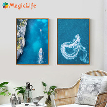 Landscape Art Canvas Painting Sea Wall Pictures Decor  Nordic Posters For Living Room Decorative Unframed