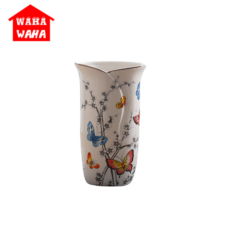 Ceramic Vase Arts and Crafts Jingdezhen Antique China Porcelain Classical Chinese Vase Handmade Crafts Home Decorative Gift