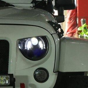Image 5 - Marloo Dot Emarked (Links/Rechts Drive) 7 Inch Ronde Led Koplamp Hoge Dimlicht Voor Jeep Wrangler Jk Tj Lj Cj Hummber H1 H2