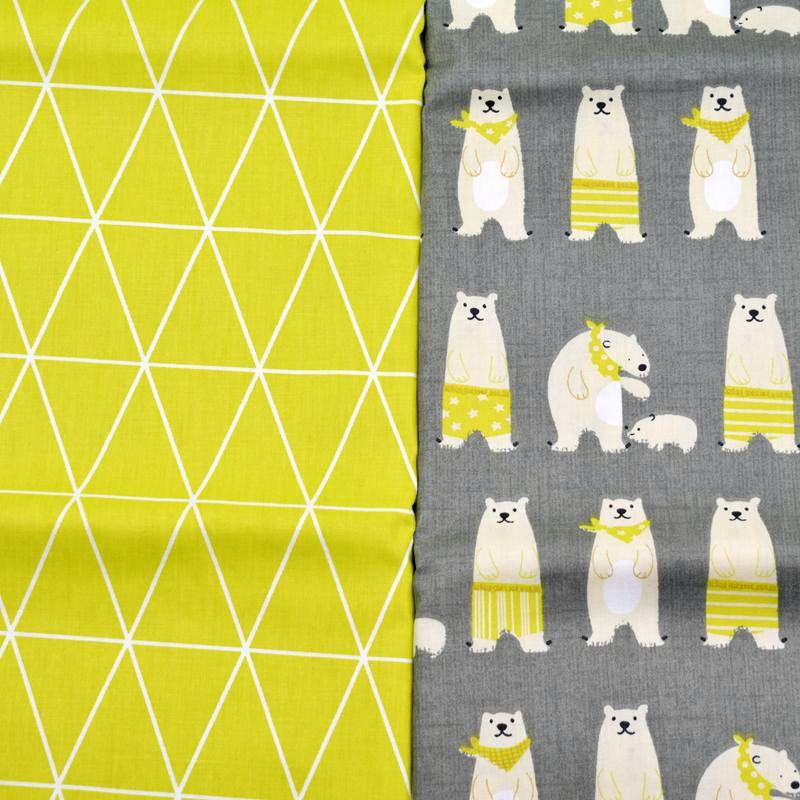 160 50cm polar bear printed twill cotton fabric fabric for Children s jersey fabric