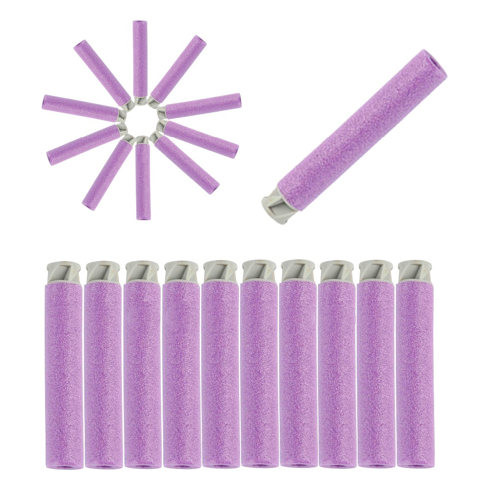 50pcs Soft Bullet Flat Soft Head Foam Bullets For Nerf N-strike Elite Series Purple Hot Sale