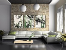 3 Piece Modern  Canvas Prints Perfect Bamboo Green Pictures on Canvas Wall Art for Home Office Decorations Living Room цена 2017